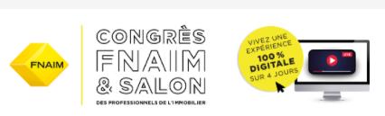 Le Groupe SeLoger présent jusqu'au 26/11/2020 au Congrès FNAIM, version digitale