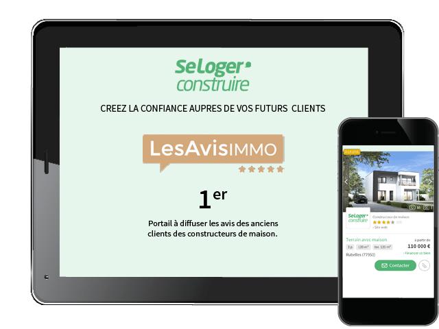 SeLoger construire innove sur le marché de la maison individuelle avec les Avis Immo
